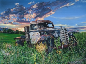 """Old Ford Flatbed"" 36x48"" acrylic painting, 2014"